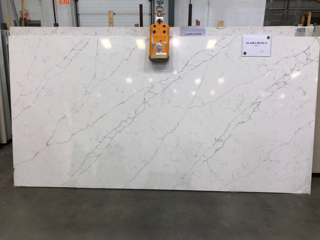 Alaska Bianca Quartz Slab 30Mm