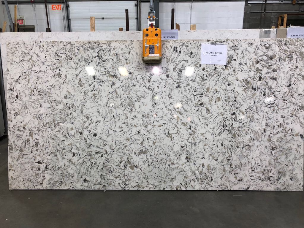 Bianco River Quartz Slab 30Mm