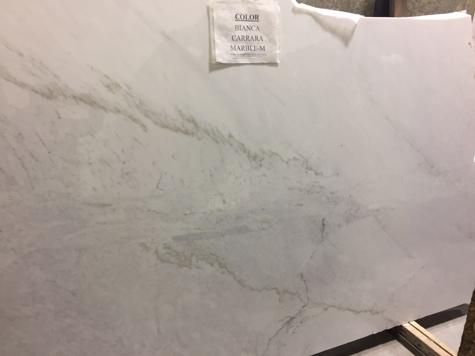 Bianca Carrara Marble Slab 30Mm