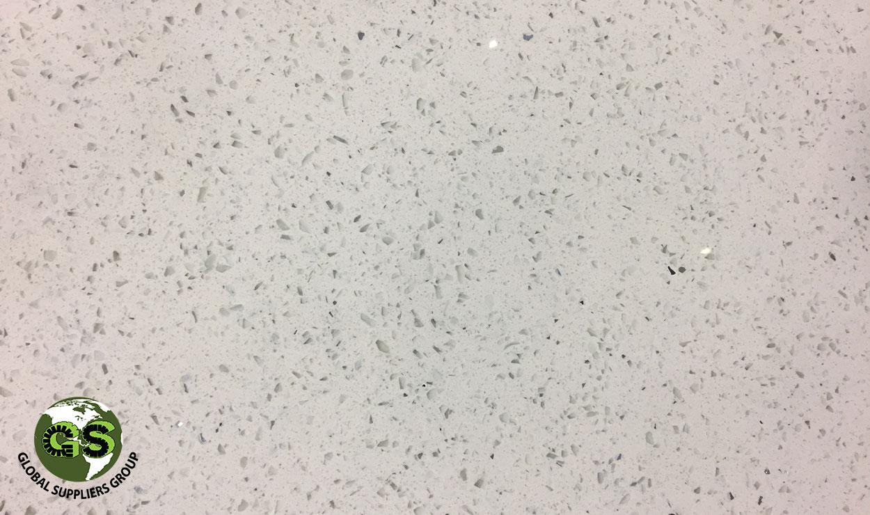 Bianco Galaxy Quartz Slab 20Mm