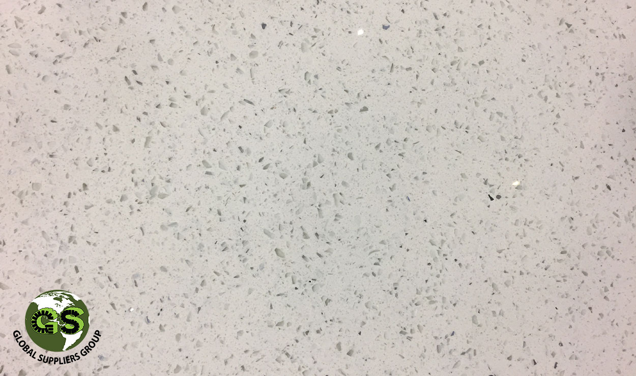 Bianco Galaxy Quartz Slab 30Mm*