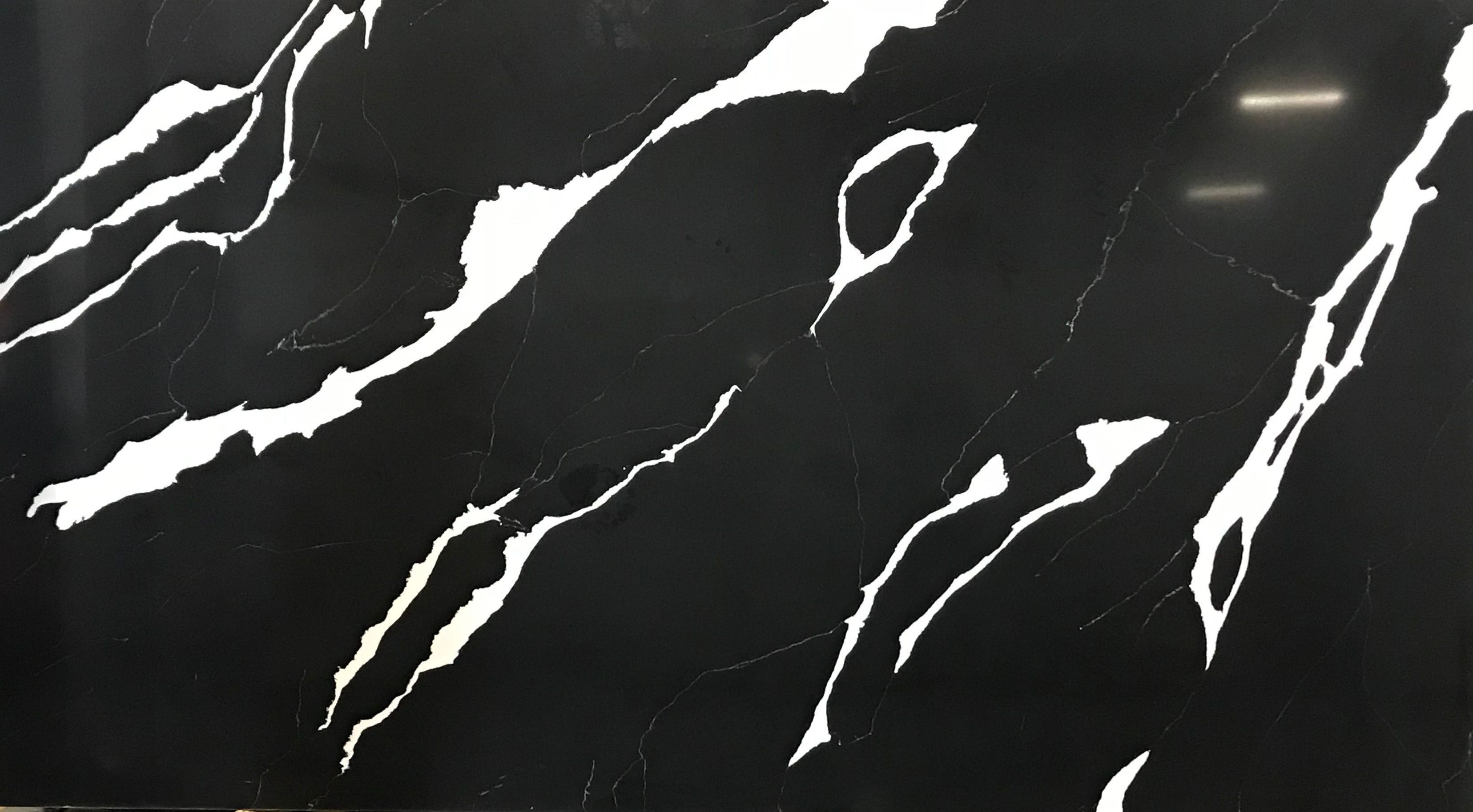 NERO WHITE QUARTZ 3CM